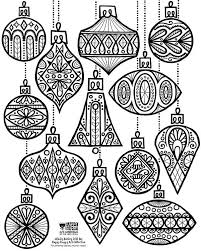 24 DAYS OF FREEBIES DAY 2 ORNAMENT COLORING SHEET