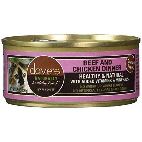 Dave's Naturally Health Food Cat Food - Beef and Chicken