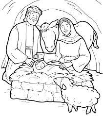 Baby Jesus Online Coloring Printable