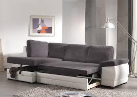 canap contemporain canapé d angle contemporain convertible en tissu coloris gris foncé