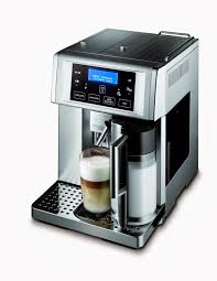 The DeLongi Offers A One Touch No Hassle Espresso Machine With An Inbuilt Screen Milk Frother And Fresh Coffee Grinder All You Have To Do Is Supply