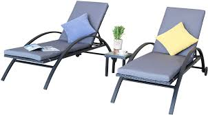 Amazon.com : Baner Garden CH-22 3 Piece Adjustable Outdoor ... Amazoncom Wnew 3 Pcs Patio Fniture Outdoor Lounge Stark Item Chaise Chair Brown Festival 2pcs Patiorama Adjustable Pool Rattan With Cushion Espresso Pe Wickersteel Frame Christopher Knight Home 80x275 Green Pads For Chairs Set Of 2 Gojooasis Recliner Styles Biscayne Huyya Lounges Sun Outmax Wicker Folding Back Footrest Durable Easy Carry Poolside Garden 14th Mobility Armrest Chair Staggering Medium Pc