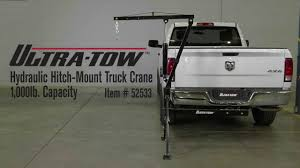Ultra-Tow Hydraulic Hitch-Mount Truck Crane 1000-Lb. Capacity - YouTube