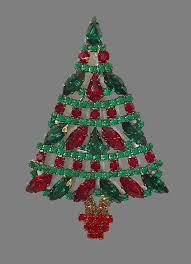 Swarovski Crystal Jewelry Alloy Christmas Tree Brooch