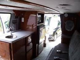 Ford Econoline E150 Van With RV Conversion Sink Fridge Micro