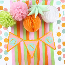 Find More Party DIY Decorations Information About First Birthday Decoration Set Banner Crepe Paper