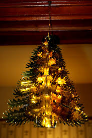 Gold Foil Christmas Tree Decoration
