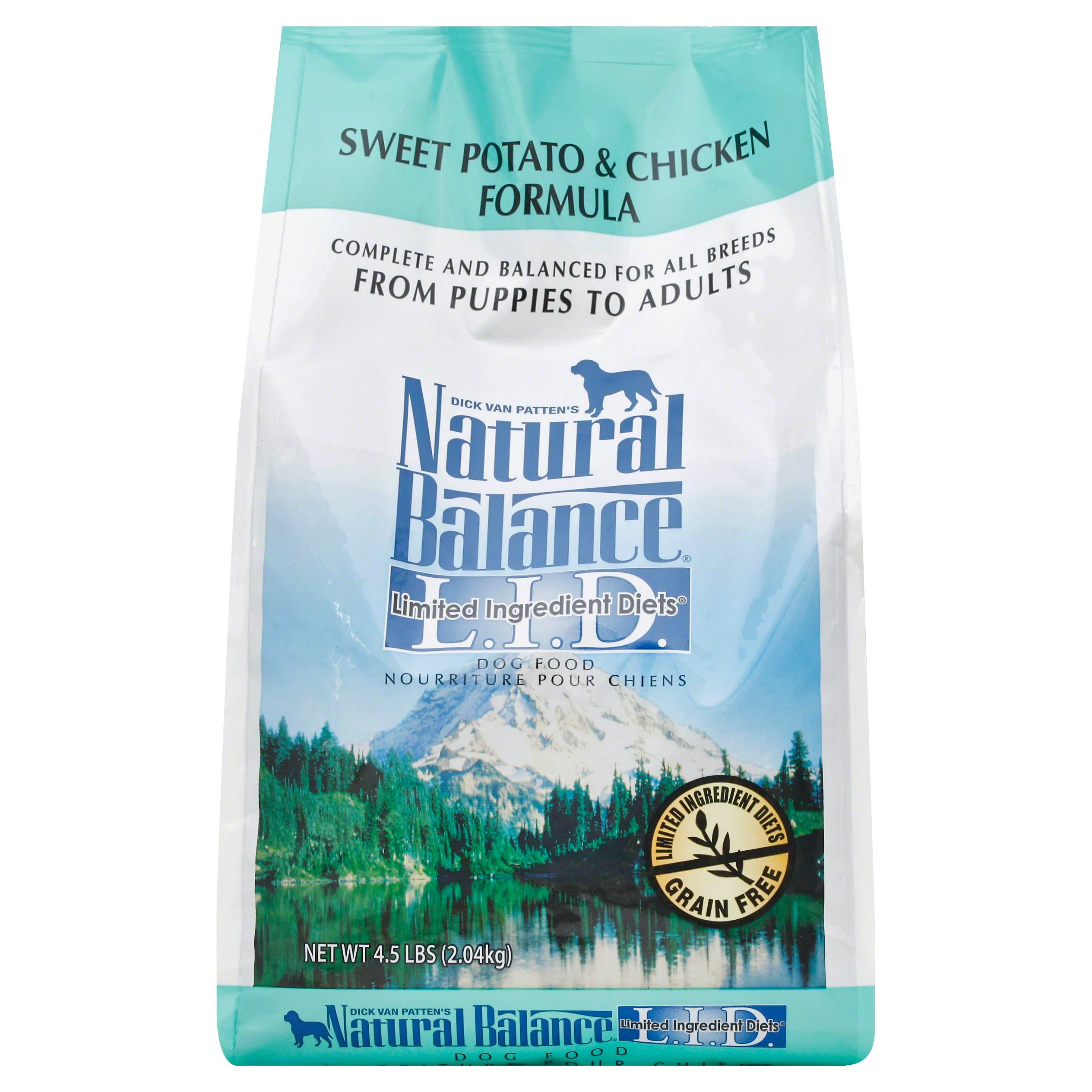 Natural Balance Limited Ingredient Diets Dog Food, Sweet Potato & Chicken Formula - 4.5 lb