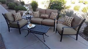 Cast Aluminum Patio Furniture With Sunbrella Cushions by Aluminum Patio Furnitiure Sets