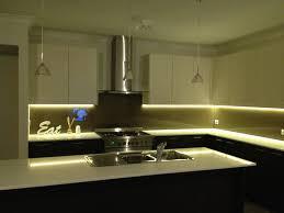 led counter lighting kitchen warm cabinet led