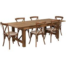 Rustic Farm Table With 6 Cross Back Chairs And Burlap Cushions ... Kids Ding Table And Chair Set Fniture Nantucket Coaster Stanton Contemporary Value City China White Nordic Event Party Oval Shape Pedestal For 6 With Brown Painted Also Teak Alinium Folding Portable Camping Pnic Party Ding Table With 4 Johoo Comfortable Plastic Restaurant The Table That Grows To Match The Party Ikea Amazoncom Miniature Tea Colctible Whosale Tables Suppliers Aliba Traditional V Modern Room Sets Expand Tempo And Chairs Granby Merlot 7 Pc Rectangle Woodback