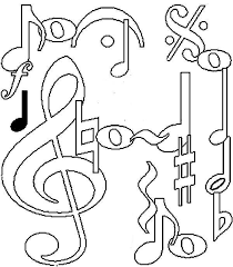 Music Coloring Pages Notes