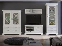 forte kashmir 4 teilige wohnwand kashmir für ihr wohnzimmer wohnkombination mit tv unterschrank wandpaneel und zwei vitrinen dekor pinia weiss