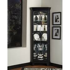 pulaski oxford black corner curio cabinet oxfords and room