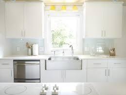 glass subway tile kitchen backsplash laminated floor glossy