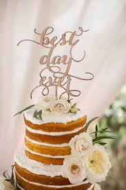Black Twin Oaks Garden Estate Wedding Best Day Ever Cake Topper