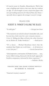 Robert B Parkers Killing The Blues