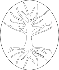 Tree Of Life Drawing Printable Craft Template Or Adult Coloring Page LeeHansen