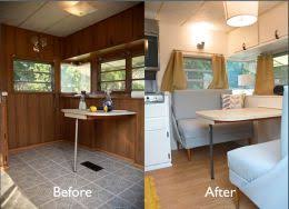 Before And After Photos Of Trailer Makeover Camper Renovation Ideas