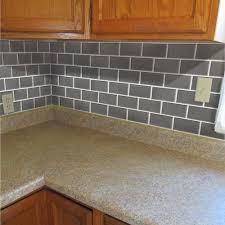 simple faux tile backsplash cabinet hardware room paint faux