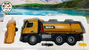 100 Sk Toy Trucks KID TOY TV RC DUMP TRUCK HUINA 573 UNBOXING RC TOY REVIEW AND TESTED FIRST TIME GET DIRT