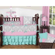 sweet jojo designs skylar 9 piece crib bedding set reviews wayfair