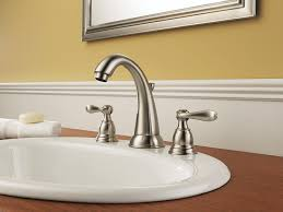 Brushed Nickel Bathroom Faucets Delta by The Most Windemere Bathroom Collection Delta Faucet With Regard To
