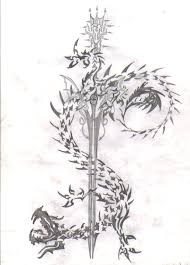 Tribal Dragon Sword By Kingkg