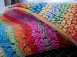 details zu cawö lifestyle badteppich multicolor streifen 60x60 cm 100 baumwolle neu