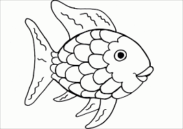 Rainbow Fish Coloring Page At Book Online Within