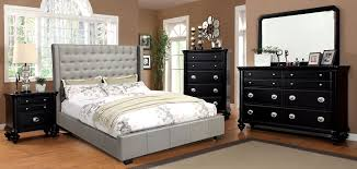 Black Leather Headboard Queen by Amazon Com Furniture Of America Minka Leatherette Platform Bed