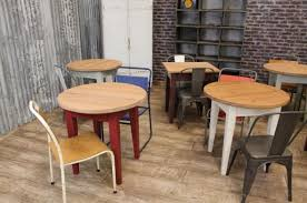 Amazing Restaurant Bistro Tables Rustic Pine Cafe Catering Use