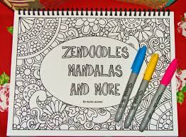 Instant Download PDF Zendoodles Mandalas And More Abstract Doodle Coloring Book Create Your Masterpiece By