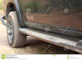 Side Step Stair Of Pickup Truck. Stock Photo - Image Of Equipment ...