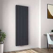 bath mann design flach heizkörper vertikal paneelheizkörper 1800 x 620 mm flach doppellagig mittelanschluss heizung 2310 watt antrazit