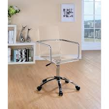 Shop Contemporary Clear Acrylic Office Chair Free Shipping Today