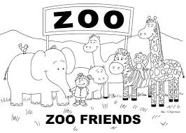 Cute Zoo Animal Coloring Pages To Print