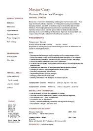 Human Resource Manager Resume Best Of Example For Position Examples Resumes