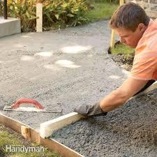 tips to build a concrete walkway family handyman