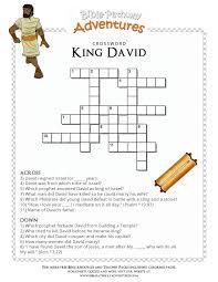 Bible Crossword Puzzle King David PuzzlesSabbath ActivitiesKing