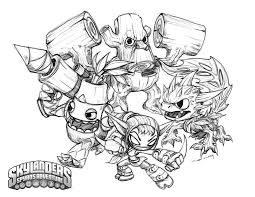 Sheets Skylanders Coloring Pages To Print 95 On Online With