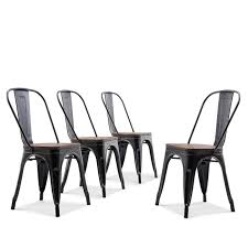 Belleze Set Of 4 Wood Seat Cafe Bar Stool Modern Style Metal Industrial  Stackable Bistro Dining Chairs Antique Black Appealing Modern White Ding Chairs Home Furnishings Kit Modern Upholstered Ding Chairs With Arms Crazymbaclub Mid Century Upholstered Chair Avalonitnet Audrey Dark Grey Details About New Set Of 2 Elegant Design Fabric Accent L848 China Colorful Coffee Table Gold Wedding Garden Outstanding Small Room With Rectangle Modrest Legend Black Danish Teak Rope Cord Post Concorde By Torstein Flaty Norway 1980s Of 4 For Walmartcom