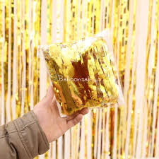 cheap gold foil fringed curtain backdrop for photo booth 1m x 3m