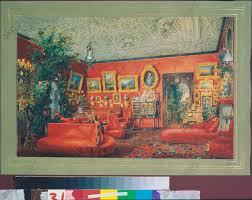 akg images das rote wohnzimmer im jussupow palais in st