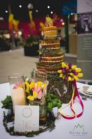 Naked Wedding Cake With Fresh Spring Blooms