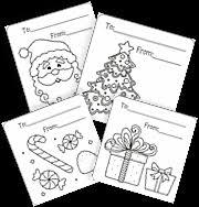 Christmas Gift Tags Santa Printable Free