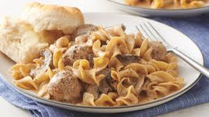 One Pot Meatball Stroganoff For Two Recipe