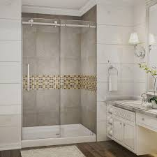 54 X 27 Bathtub With Surround by Stainless Steel Shower Walls U0026 Surrounds Showers The Home Depot