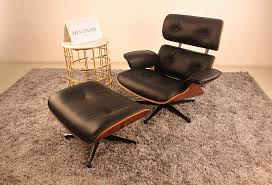 Genuine Leather Eames Lounge Chair With Ottoman Replica (Black) Eames Lounge Chair Ottoman Replica Aptdeco Black Leather 4 Star And 300 Herman Miller Is It Any Good Fniture Modern And Comfort Style Pu Walnut Wood 670 Vitra Replica Diiiz Details About Palisander Reproduction Set