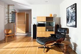 Eames Style Office Chair Living Room Midcentury With Bookcase Custom Doors Entrance